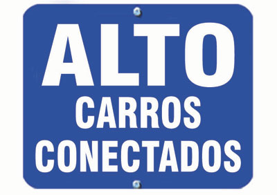 Aldon railroad OSHA blue sign flag, alto carros conectados