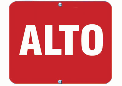 Aldon railroad OSHA red sign flag, alto