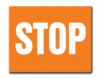 Aldon orange railroad OSHA sign flag, stop